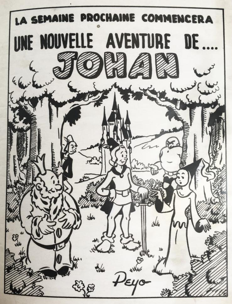 Peyo, Johan, quotidien La Derniére Heure, 1947.jpg