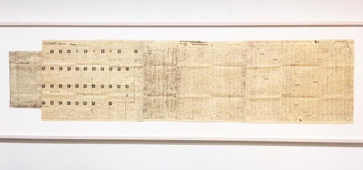 Jean Perdrizet esperanto sidéral, 1962, technique mixte sur papier, 52 x 215,3 cm.jpg