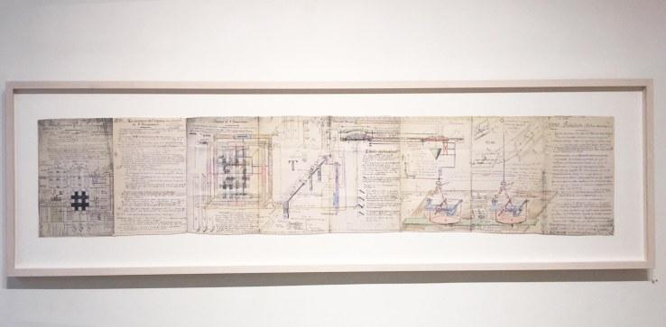Jean Perdrizet, un véritable cerveau photo électrique, 1971, technique mixte sur papier, 31,5 x 167,4 cm.jpg